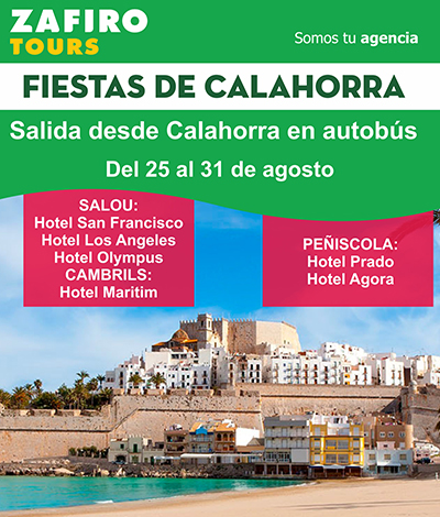Estas fiestas de Calahorra viaja a Salou, Cambrils o Peñiscola!